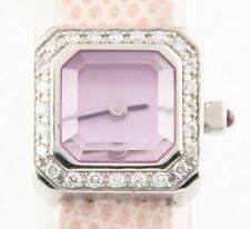 Corum Women's Stainless Steel Sugar Cube Quartz Watch w/ Diamond Bezel