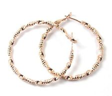 Women's Rose Gold Plated Hoop Earrings Jewellery