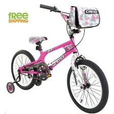 "Pink Girl Bike 18"" Child Bicycle Kid Knobby Tires Training Wheels New!"