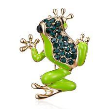 Fashion Animal Women Frog Rhinestone Crysta Breastpin Brooch Pin Costume Jewelry