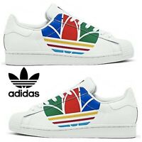 Adidas Originals Superstar Sneakers Men's Casual Shoes Running White Red Blue