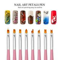 Set Of Nail Art Gradient Design Acrylic Brush Painting Flower UV Gel Pen Tools n