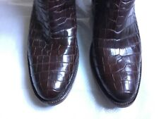 Black Jack Boots Style # 188~ Brown Brush-Off Goat / Alligator Belly Western