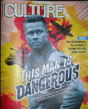 *NEW* BRAD PITT - FURY, ELLA HENDERSON, CLIVE JAMES SUNDAY TIMES CULTURE OCT 14