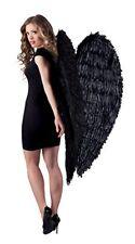 Boland - Ac0037/noir Maxi Ailes D'ange Plumes noires 120 X120 cm