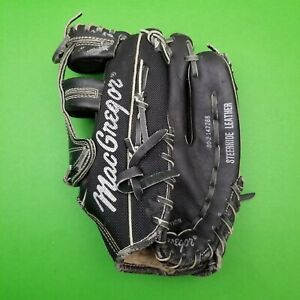 "Vintage MacGregor MG52 10.5""  Leather Baseball Glove Mitt RHT Dwight Evans Black"