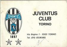 Calendarietto JUVENTUS CLUB TORINO Campionato 1983/84