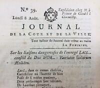Laclos 1791 Chantilly Brive Noailles Gonesse Journal Royaliste Révolution France
