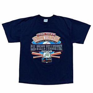 VTG 1999 NCAA College World Series Cal State Fullerton Titans T-Shirt Mens L