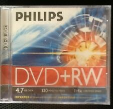 DVD + RW   PHILIPS 4,7 GB 120 Min. NEU