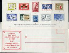 1960 CANADA SOUVENIR COLLECTION CARD 2 --- RARE Extra Fair + original envelope