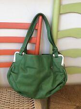 womens purses and handbags/Francesco Biasia Ocean Green Leather Satchel Shoulder