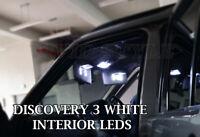 LAND ROVER DISCOVERY 3 2004+ VIVID XENON WHITE INTERIOR LED LIGHT BULBS SET