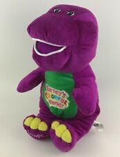 "Barney Purple Dinosaur Singing 14"" Plush Stuffed Toy Barneys Colorful World"