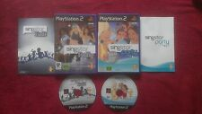 SING STAR R&B & SING STAR PARTY BUNDLE SONY PLAYSTATION 2 PS2 PAL VGC