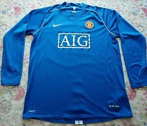 Manchester United Goalkeeper Shirt 2007/08 XL Original Vintage Nike Blue (used)