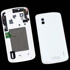 For LG Google Nexus 4 E960 Rear Glass Lens Cover Back Housing Battery Door White