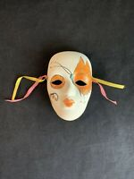 Vintage Hand-Made Mardi Gras Ceramic Mask Wall Hanging