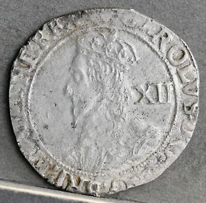 Charles I Under Parliament Hammered Silver Shilling, Group F. 1641 - 1643