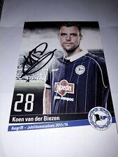 Signierte AK Koen van der Biezen DSC Arminia Bielefeld  NEU (2)