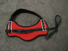 PADDED HARNESS IN RED & BLACK - EASY FIT - SIZE LARGE - USED ONCE - V.G.C