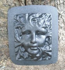 Plaster concrete plastic mold greenlady garden fairy face mould