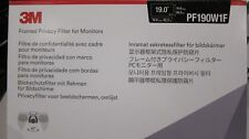 """3M Original PF190W1F Framed Privacy Filter for 19"""" Monitor PC Screen"""