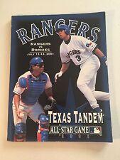 2001 Texas Rangers Souvenir Program Alex Rodriguez & Ivan Rodriguez Front Cover