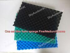 """Aquarium Media Filter Foam Sponge 1 Set 17"""" X 11"""" Pads Fine/Medium/Coarse"""