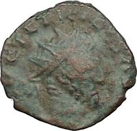 Tetricus I - Gallic Roman 273AD Rare Ancient Roman Coin Laetitia Happy  i32863