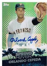Orlando Cepeda 2013 Topps Spring Fever Promo Auto Card 131/176 SFA-OC SF Giants
