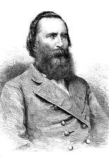Longstreet general del ejército americano confederado publicado 1864 cartel impresión