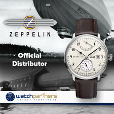 ZEPPELIN LZ129 HINDENBURG SELF-WINDING WATCH AUTO MOVT 30M WR BEIGE DIAL 7060-4