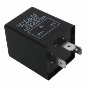 3 Pin 12V Electronic LED Car Flasher Relay Unit Fix Blinker Indicator Globe