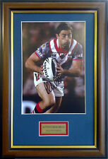 ANTHONY MINICHIELLO ACTION PHOTO SYDNEY ROOSTERS SIGNED FRAMED