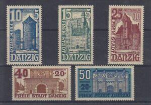 Danzig  262 - 66  Winterhilfswerk  Bauwerke  **  (mnh)