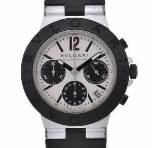 BVLGARI aluminum AC38TA Chronograph Silver Dial Automatic Men's Watch H#106511