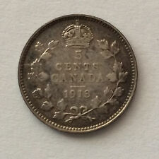 1913 Canada Five Cents Canadian Coin A4514