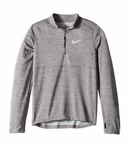 $340 Nike Boy's Gray Long-Sleeve Top Half-Zip Sweater Pullover Sweatshirt Size L