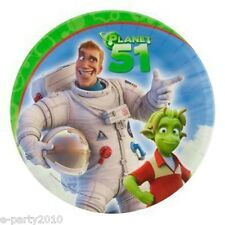 PLANET 51 LARGE PAPER PLATES (8) ~ Birthday Party Supplies Dinner Luncheon Lem