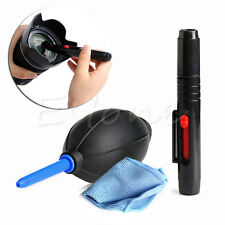 3 in 1 Lens Cleaning Dust Pen Blower Cleaner Cloth Kit For DSLR VCR Camera