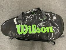 Wilson Super Tour 2 Compartment Large 9 Pack Tennis Racket Bag Blade Green Black