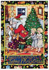 Mary Engelbreit-Twas The Night Before Christmas Santa Claus Tree Card-New!