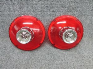 Pair of 1963 Ford Galaxie Tail Light Lens With Back Up Lenses - NORS TMC-2200
