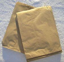 100 Brown Papier Kraft Sacs 17.8cmX22.9cm Enfilées