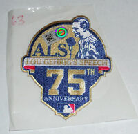 LOU GEHRIG YANKEE SPEECH ALS 75th ANNIV. GAME USED JERSEY PATCH PAT MCCOY TIGERS
