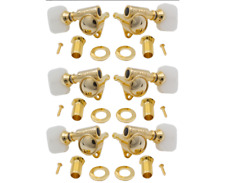 """Grover GOLD Pearloid """"Milk Bottle"""" Rotomatic Tuners for 3x3 Guitar LP SG"""