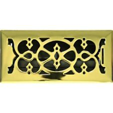 Polished Brass Victorian Metal Floor Vent Register Cover 150x350 Heating Cooling