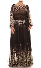Boho On Off Shoulder Leopard Chiffon Maxi Dress