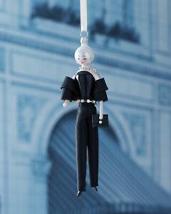 NIB De Carlini ASTA Lady In Black Suit Glass Christmas Ornament Italy